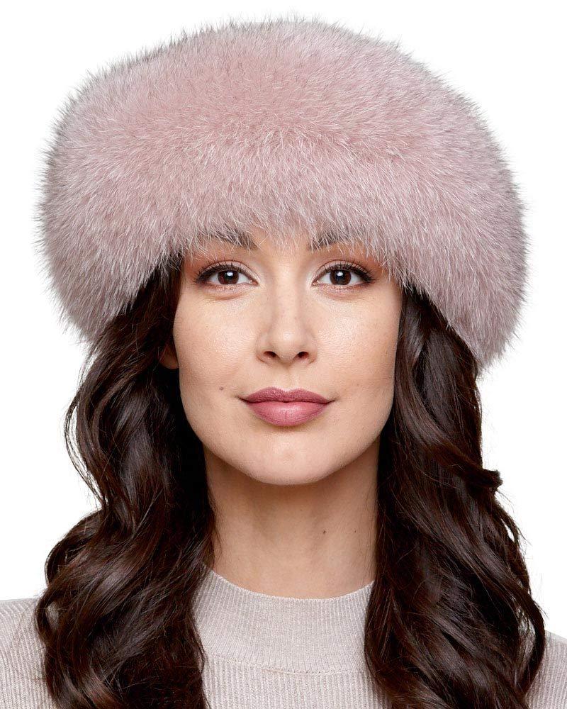 Rose Fox Fur Headband