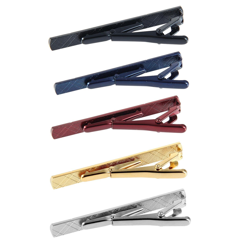 Leegoal Lot de 5/pinces /à cravate pour homme Cadeau de f/ête des p/ères