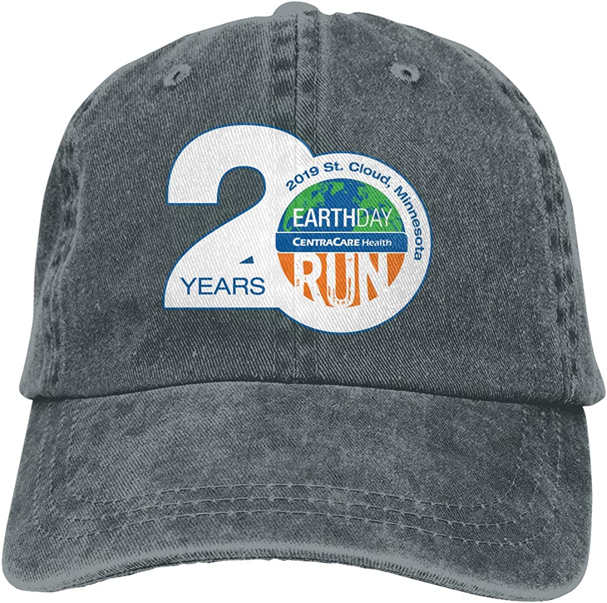 Unisex 2019 Earth Day Run Results Vintage Washed Dad Hat Popular Adjustable Baseball Cap
