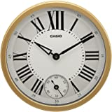 Casio Round Resin Wall Clock (35 cm x 35 cm, Gold, IQ-70-9DF)