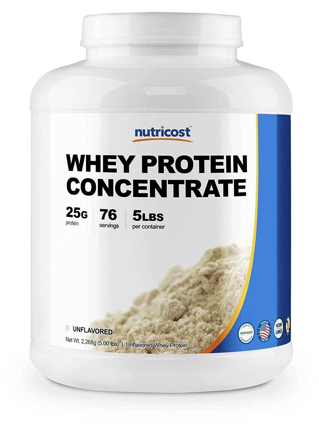 Nutricost Whey Protein Concentrate Unflavored 5LBS