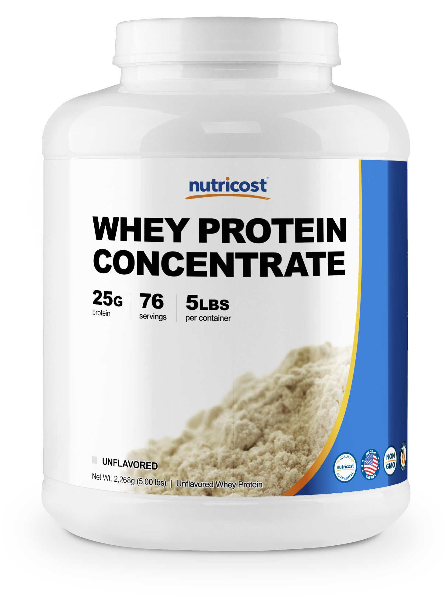 Nutricost Whey Protein Concentrate (Unflavored) 5LBS by Nutricost