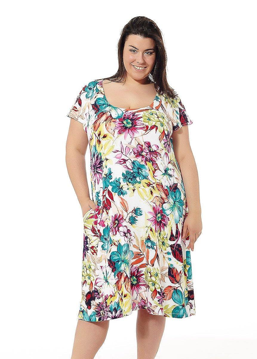 Vestido Mujer Verano. Vestido de Playa. Estampados Varios. Tallas Grandes Mabel Big&Beauty. Talla 62.