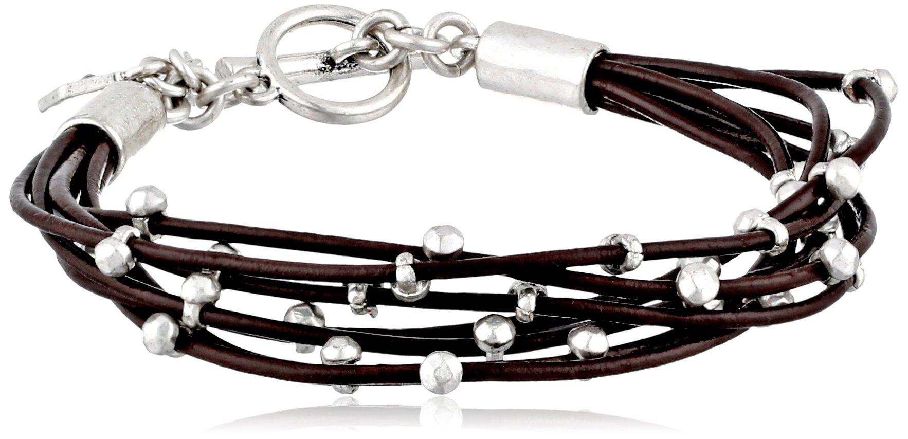 Lucky Brand Silver Leather Bracelet