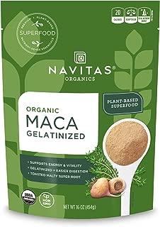 product image for Navitas Organics Maca Gelatinized Powder, 16 oz. Bag, 90 Servings — Organic, Non-GMO, Gluten-Free, 1 Pound (Pack of 1)