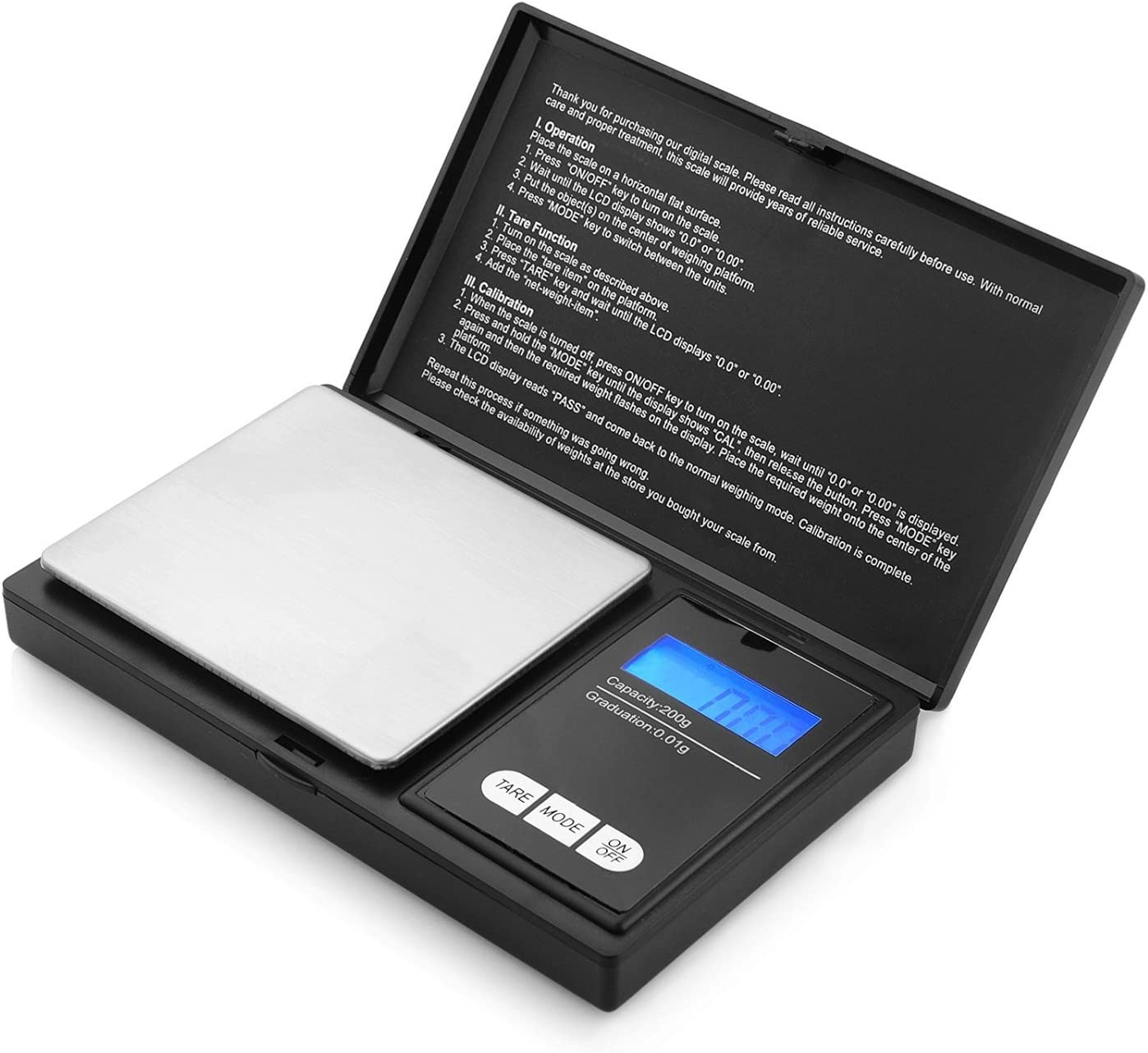 t/è 0.01 g-300g lievito Bilancia Digitale di precisione Display retroilluminato a LED farmaci per Gioielli da Cucina Gioielli caff/è Eidyer Mini Portatile Bilancia
