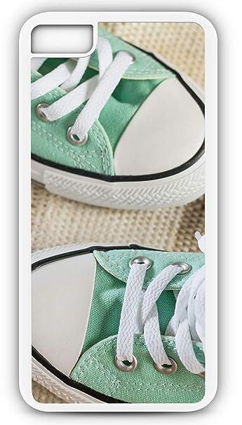 43bc7bc95ed48 Amazon.com: iPhone 6 Plus 6+ Case Green Converse Tennis Shoes White ...