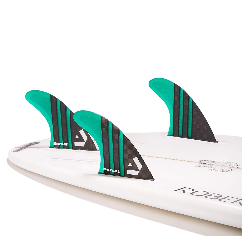 Dorsal Carbon Hexcore Future Thruster Surf Fins Green Medium