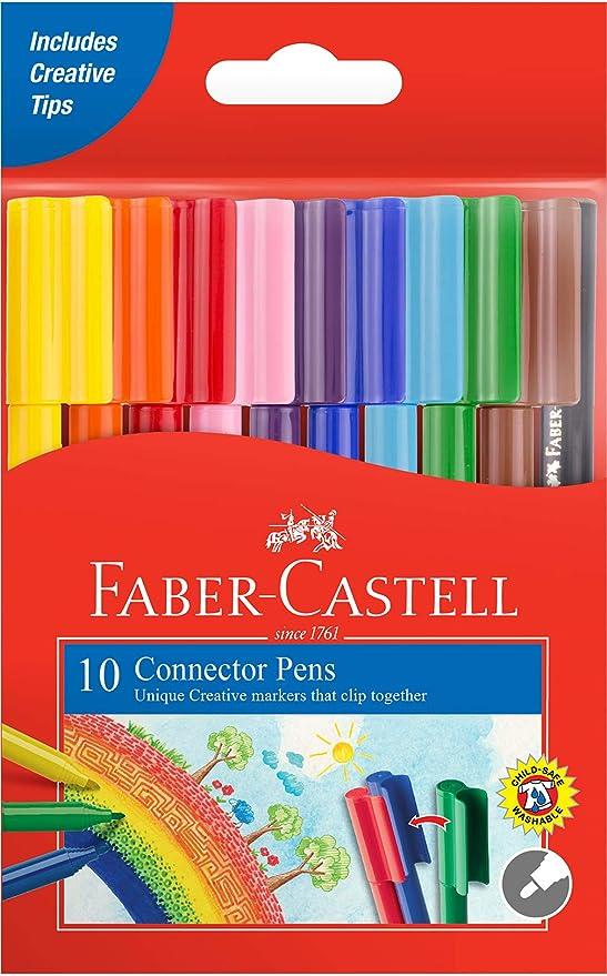 Faber-Castell 155510 Connector Pen - Juego de 10 rotuladores ...