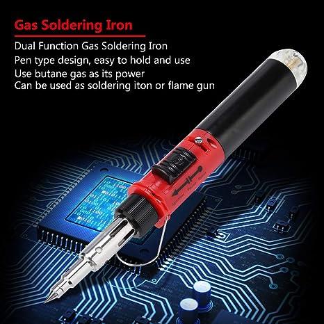 ensemble de fers /à souder au gaz /à double fonction Ensemble de fers /à souder au gaz butane /à double fonction de type stylo 12 en 1