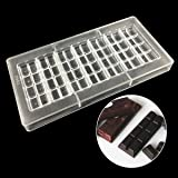 Jeteven Clear Polycarbonate Chocolate Bar Mold Jelly Candy Making Mold Tray