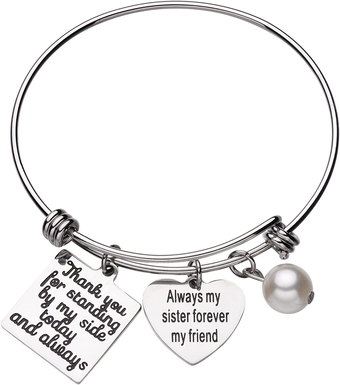Best Friend Heart Bracelet Bracelet Engraving Wedding Friendship Bracelet Gift Groomswoman Bracelet Personalized Bracelet Mum Bridesmaid