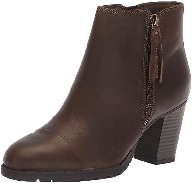e37042ea1b0 CLARKS Women s Verona Peach Fashion Boot Olive Leather 050 M US