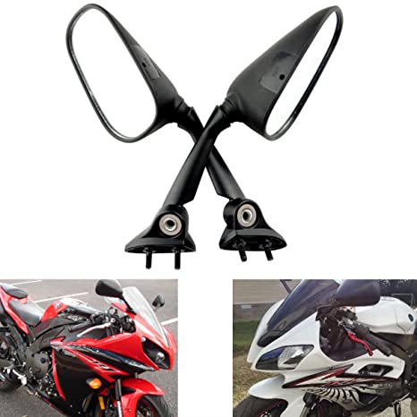 MZS Motorcycle Rear View Mirrors for Yamaha YZF R1 2009-2014 / YZF R6  2008-2016