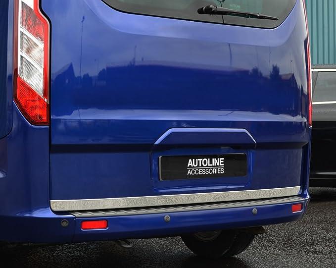 Tira para puerta trasera de cromo para puerta trasera, compatible con Transit Custom (2012 +): Amazon.es: Coche y moto