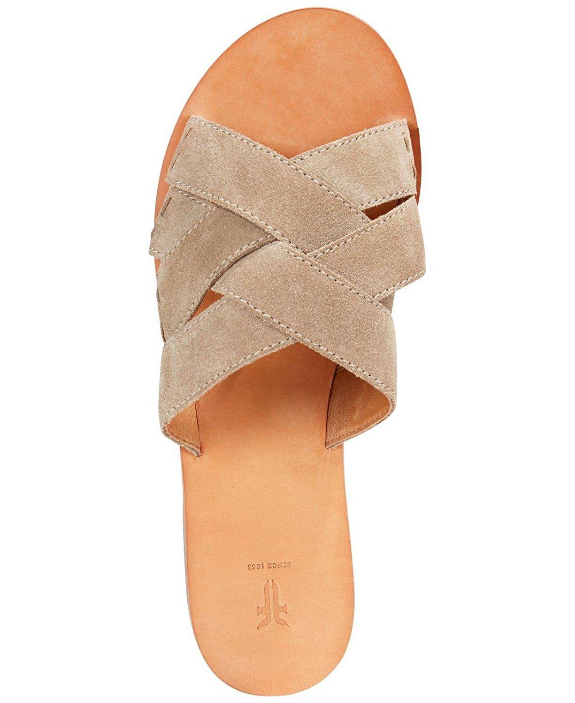 FRYE Womens Carla Criss Cross Open Toe Casual Slide Sandals, Ash, Size 6.5 by FRYE (Image #4)