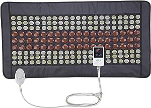 "UTK Far Infrared Heating Pad for Full Back 21""x38"" [FSA or HSA Eligible] Dense 132 Jade and 54 Tourmaline Stones Matrix 160 Watt Fast Heat Up [Model Medium Plus]"