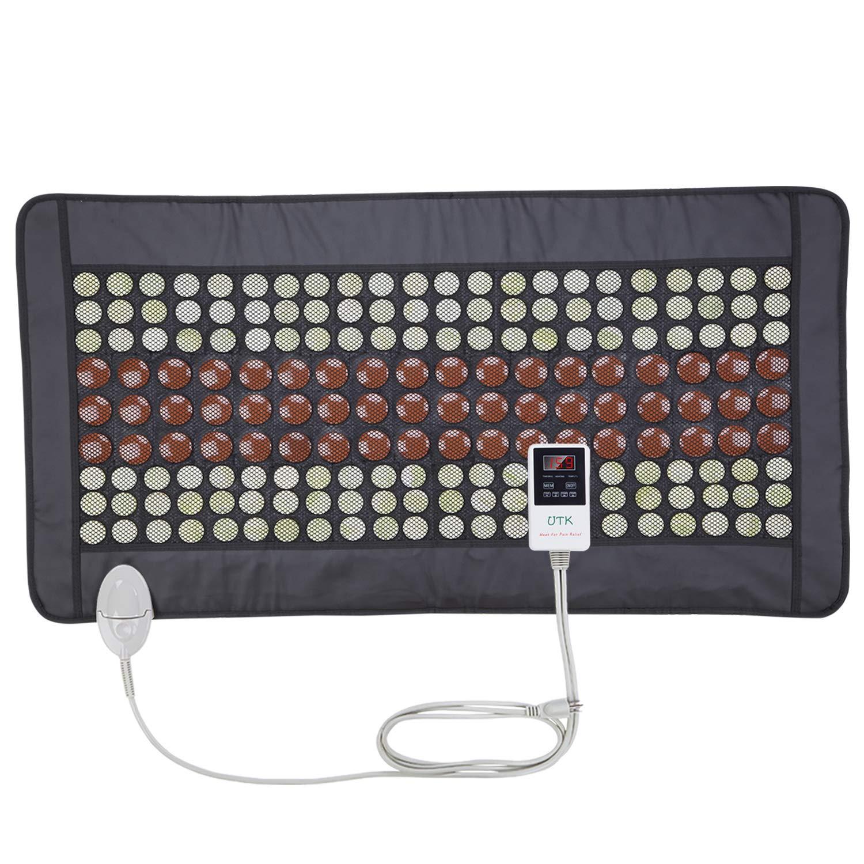 UTK Far Infrared Heating Pad for Full Back 21''x38'' [FSA or HSA Eligible] Dense 132 Jade and 54 Tourmaline Stones Matrix 160 Watt Fast Heat Up [Model Medium Plus] by UTK