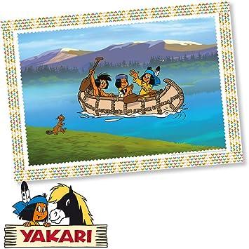 Yakari 6 Manteles Individuales Fiesta de cumpleaños y niños ...