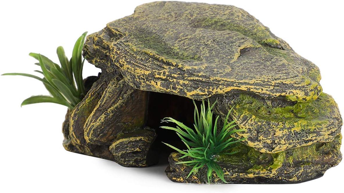 FAMKIT - Tartaruga per rettili, piattaforma per nascondere la grotta di pesci, acquario, paesaggistica, decorazione ornamentale
