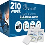 Care Touch Lens Cleaning Wipes - 210 Pre-Moistened and Individually Wrapped Lens Cleaning Wipes - Great for Eyeglasses…