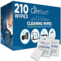 Care Touch Lens Cleaning Wipes | 210 Pre-Moistened and Individually Wrapped Lens...