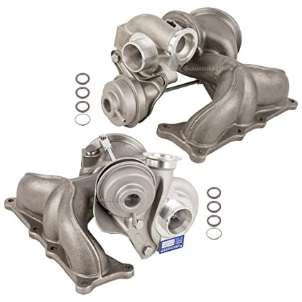 New Pair Turbo Kit With Turbocharger Gaskets For BMW 1M 135i 335i & Z4 - BuyAutoParts