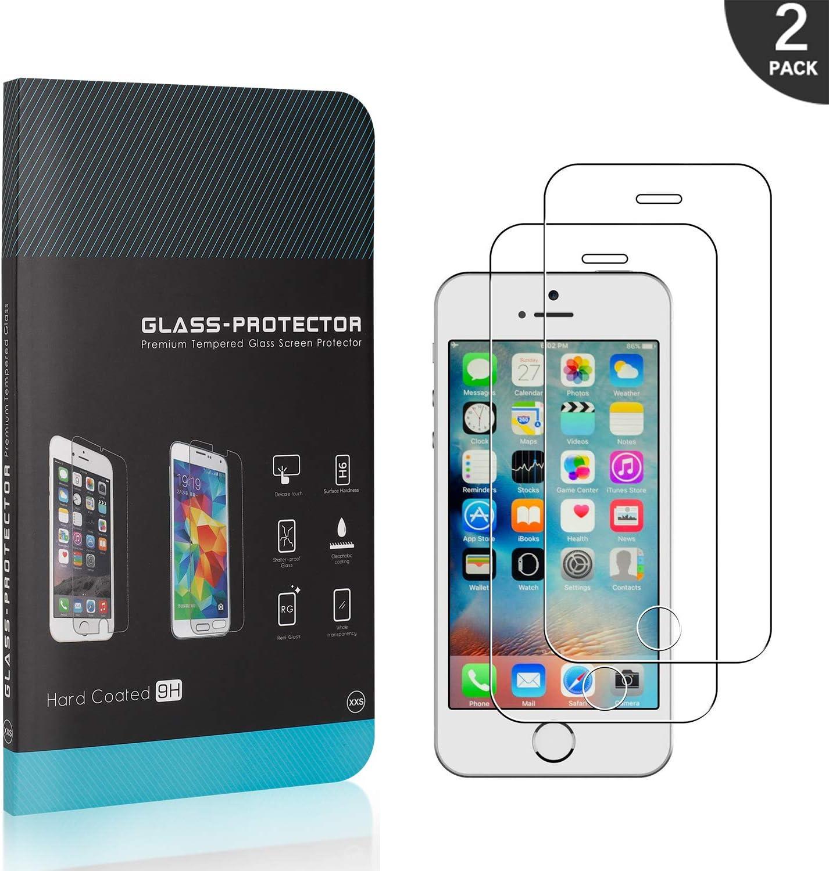 Anti Rayures 9H Protection en Verre Tremp/é /Écran pour iPhone Se//iPhone 5 5s GIMTON Verre Tremp/é pour iPhone Se//iPhone 5 5s 3D Touch Ultra Transparent 2 Pi/èces