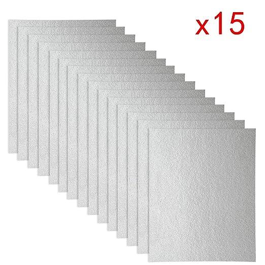 15 piezas de cubierta de Waveguide, hoja universal para microondas ...