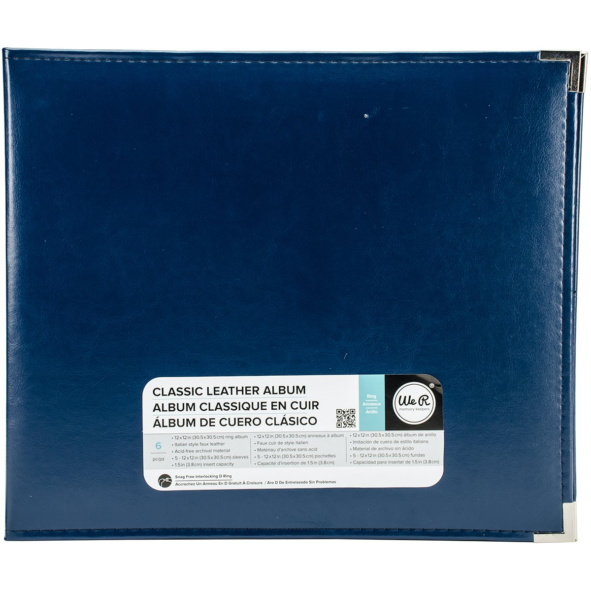 We R Memory Keepers We R Memory Album 12x12 Leather Ring Cobalt Classic Lthr Post American Crafts WER660913