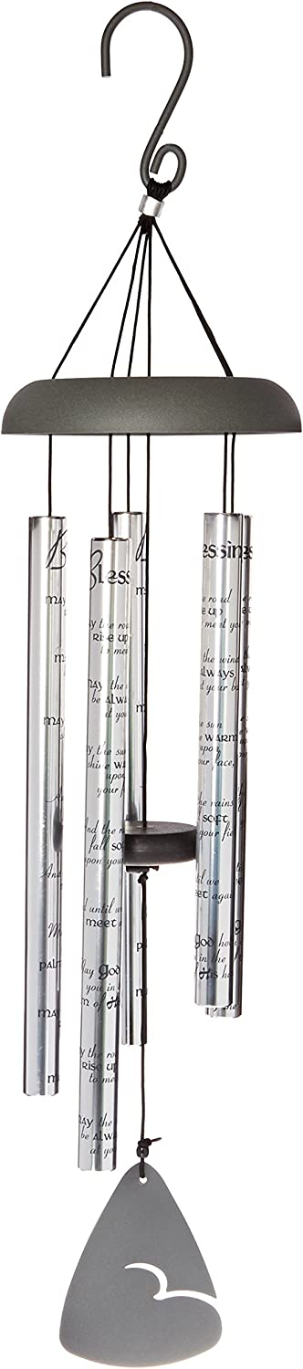 Carson Home Accents Sonnet Wind Chime, 30-Inch Length, Blessing