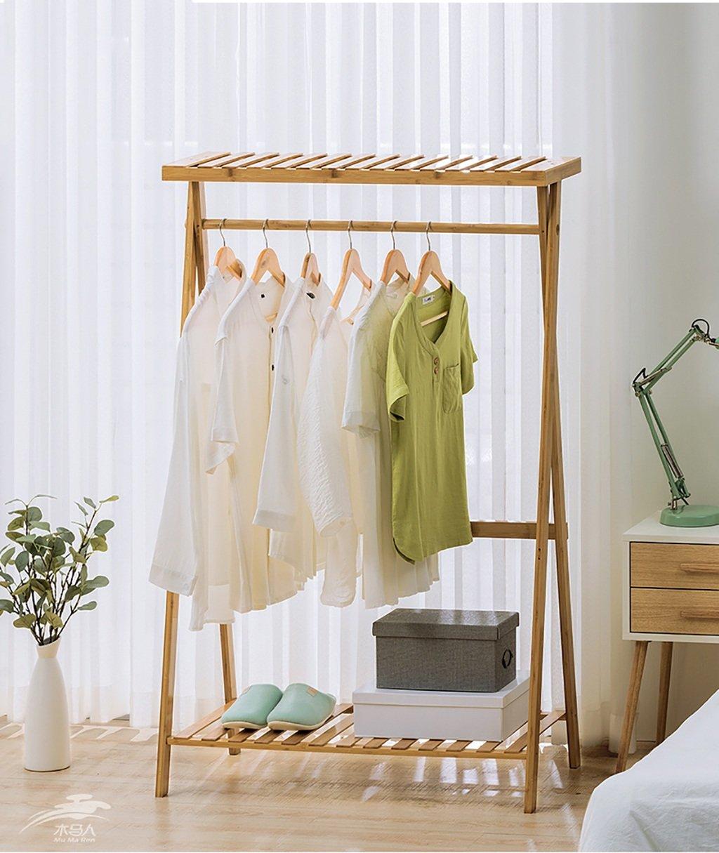LXSnail Kleiderständer massivholz einfache Boden kleiderbügel Schlafzimmer Wohnzimmer Holz kleiderständer lagerregal Kleiderständer (Farbe : 1#, größe : 90cm)