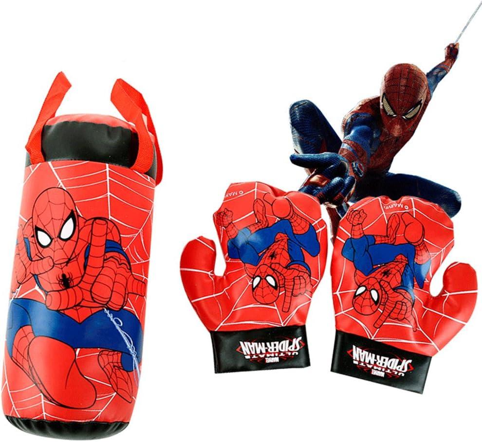 tekimbe Spiderman boxeo – saco de boxeo y guantes de boxeo juvenil ...