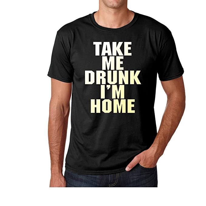 Amazon.com: AW Fashions Take me Drunk Im Home - Party Shirt Premium Mens T-Shirt: Clothing