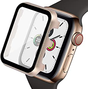 Ritastar Screen Protector for Apple Watch 40mm Bumper Cover Protective Case with Thin Clear PET Film,High Screen Response,Anti-Scratch,Bubble-Free,Full Protection for iWatch Series 6 SE 5 4 Women Men