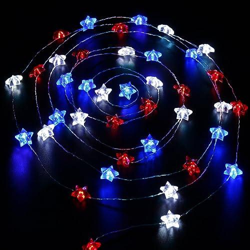 Red White Blue Lights Amazon Com