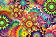 KOTWDQ 5D Diamond Painting Full Drill Kaleidoscope Mandala Paint by Number Kits Embroidery Paintings Pictures Arts Craft for Home Wall Decor 10.2 x 14.2 inch