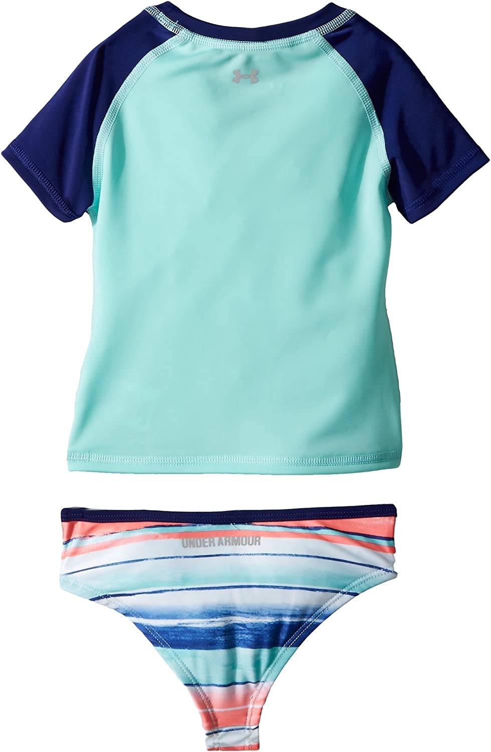 cac579715be Amazon.com: Under Armour Kids Baby Girl's Hybrid Big Logo Rashguard Set  (Toddler) Tropical Tide 2T Toddler: Sports & Outdoors