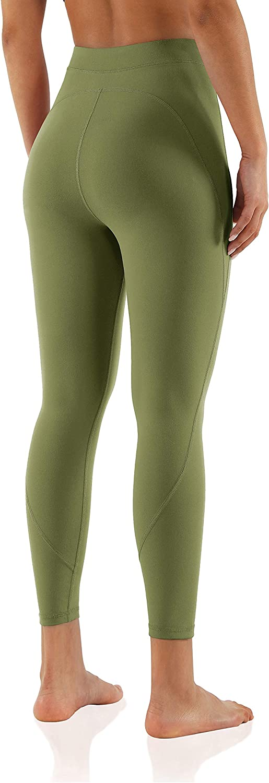 "ODODOS Women's 7/8 Yoga Leggings, 80's High Waisted Workout Leggings 25"" Inseam"