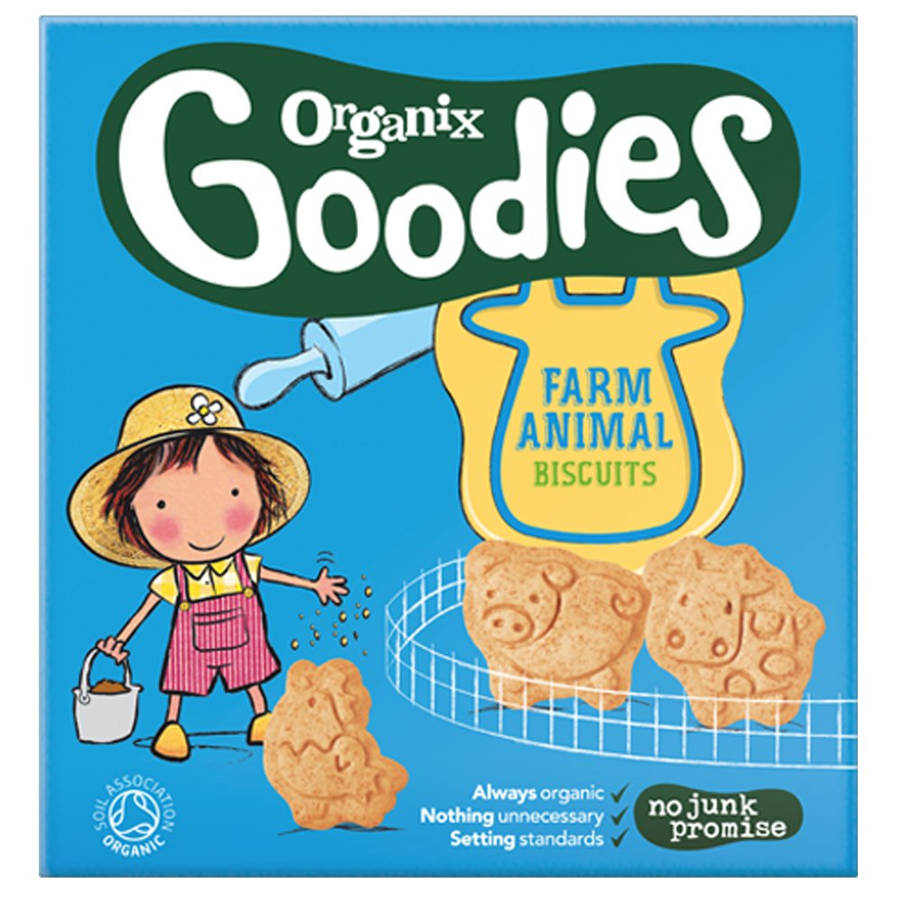 Organix Organic Animal Biscuits 100g (Pack of 2)