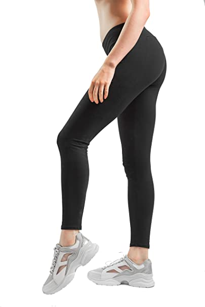 Amazon.com: Sheebo - Leggings clásicos de algodón y licra ...