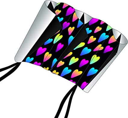 38 Inches X-Kites SkyFoil Nylon Frameless Kite Hearts