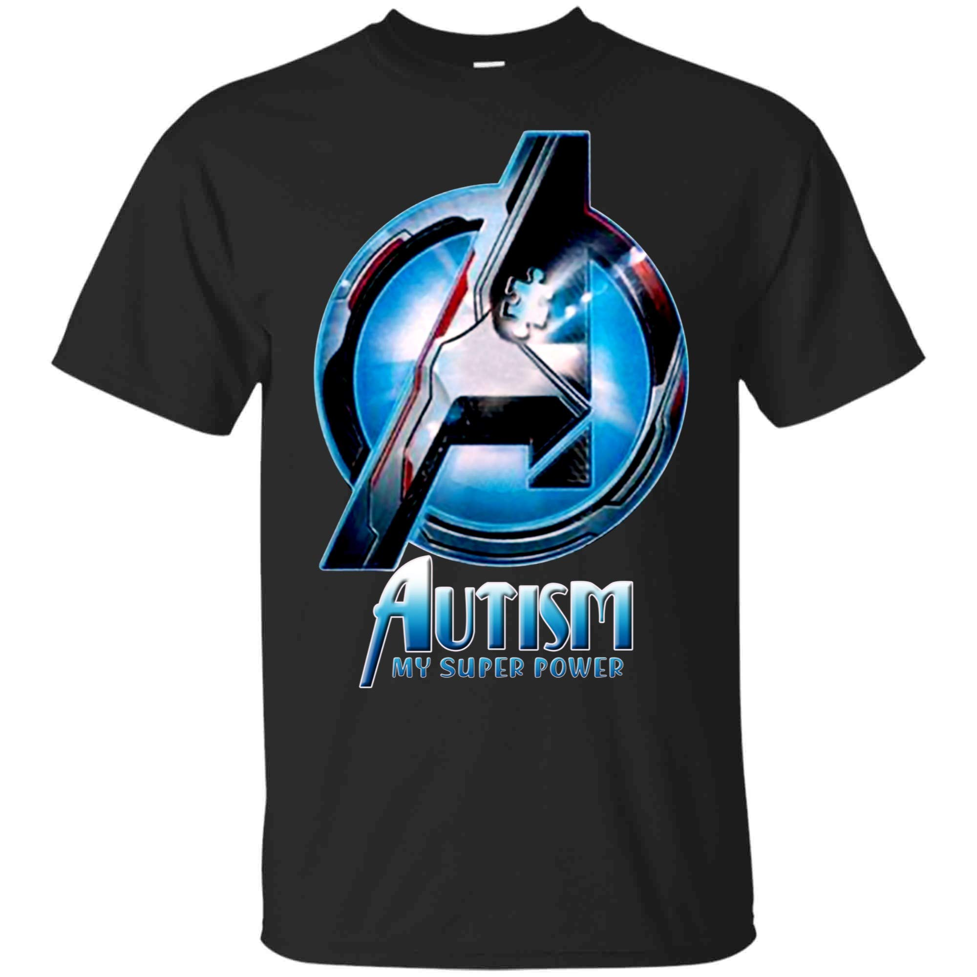 Autism Is My Superpower Avenger Tshirtautism Awareness T Shirts
