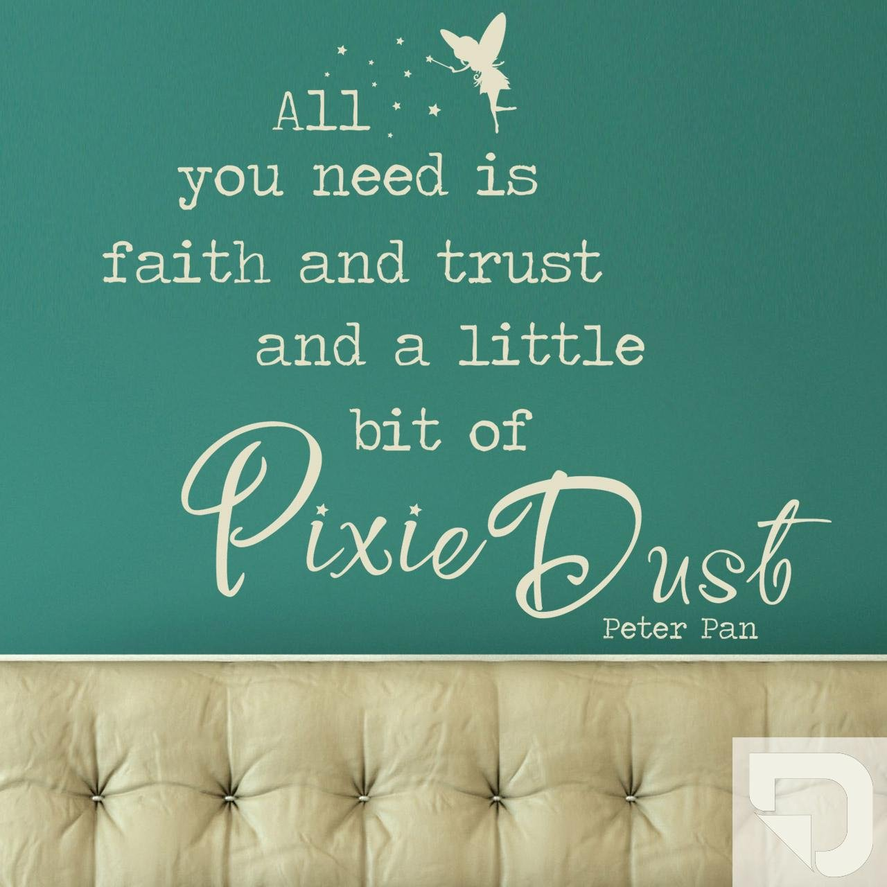 DESIGNSCAPE® Wandtattoo All you need is is is faith and trust an a little bit of Pixie Dust - Peter Pan Zitat 90 x 77 cm (Breite x Höhe) braun DW802125-M-F9 B01H4TLO6S Wandtattoos & Wandbilder c49f7c