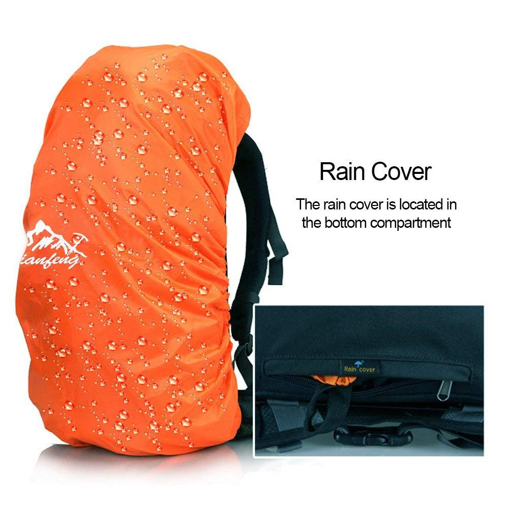 Amazon.com   COUTUDI 50L(45+5) Sport Waterproof Outdoor Daypack Backpack  with Rain Cover for Hiking Camping Climbing Mountaineering Camping Fishing  Travel ... 59b53080bfc00