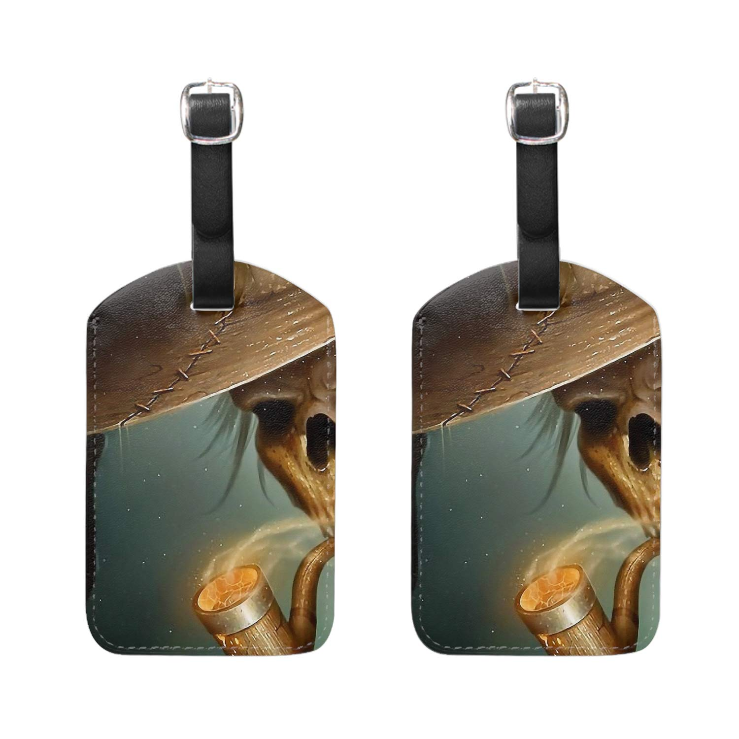 Mercifully Tea Blue Print Luggage Identifiers with Strap Closure