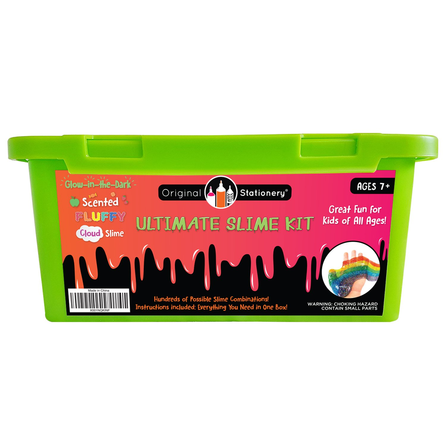 Ultimate Slime Kit Supplies Stuff for Girls and Boys Making Slime [EVERYTHING IN ONE BOX] Kids can Make Unicorn, Glitter, Cloud, Rainbow Slimes and More. Includes Glue and Full instructions. by Original Stationery (Image #1)