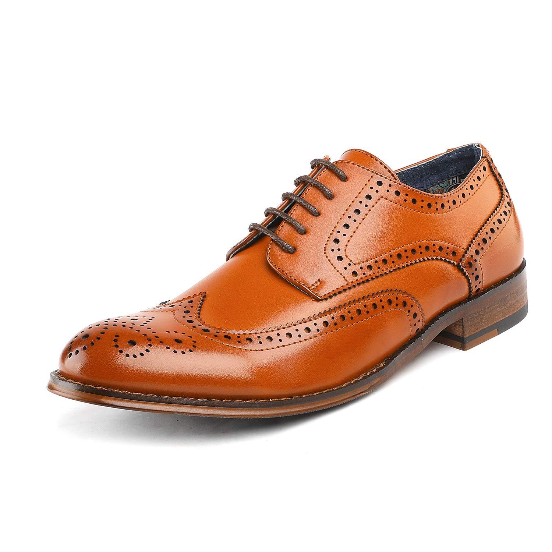 Bruno Marc Men's Dress Shoes Wingtip Oxford Paul_1 Brown Size 11 M US