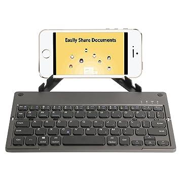 SODIAL Teclado inalambrico portatil ultradelgado ergonomico de Bolsillo Bateria Recargable de polimero de Litio incorporada para