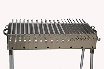 amazoncom stainless steel charcoal grill kebab bbq 135x30 patio lawn u0026 garden - Stainless Steel Charcoal Grill